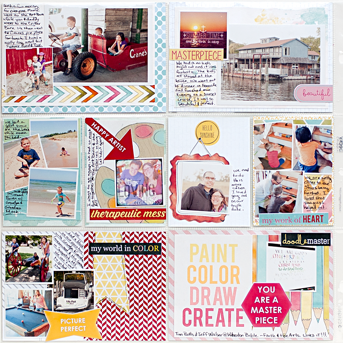 Heather Greenwood Designs | Project Life Week 28 | hybrid pocket scrapbooking