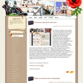 Call Brussels Belgium Blogger Template. free download template blogspot. note book style blogger template free