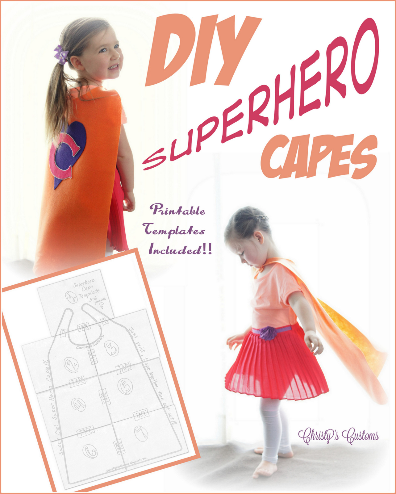 picture about Superhero Cape Template Printable identified as Christys Customs and the Tiny Home through the Olive Tree