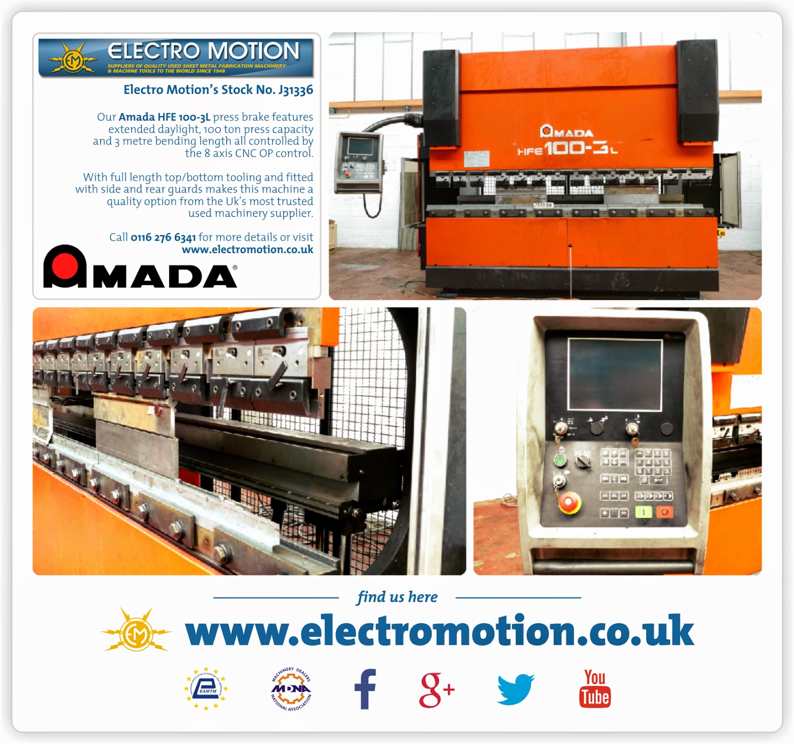 Used Machinery from Electro Motion