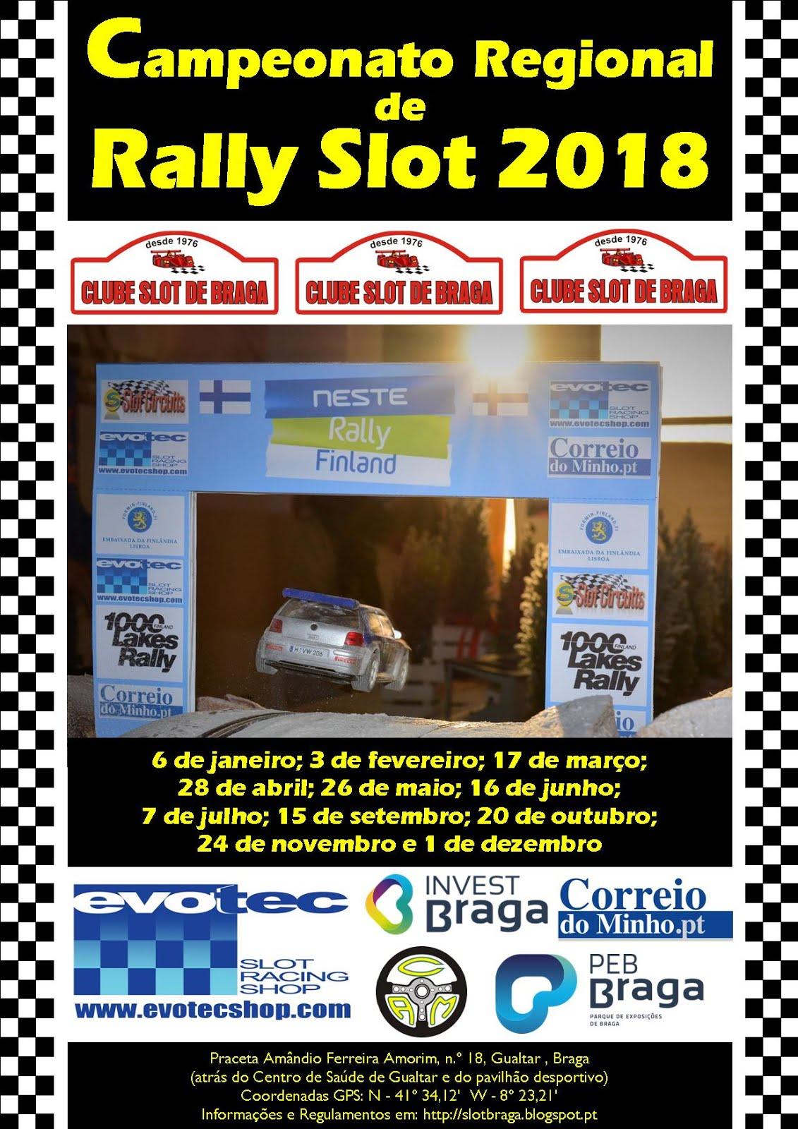 Campeonato Regional de Rally Slot 2018