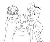 #13 Alvin and the Chipmunks Coloring Page