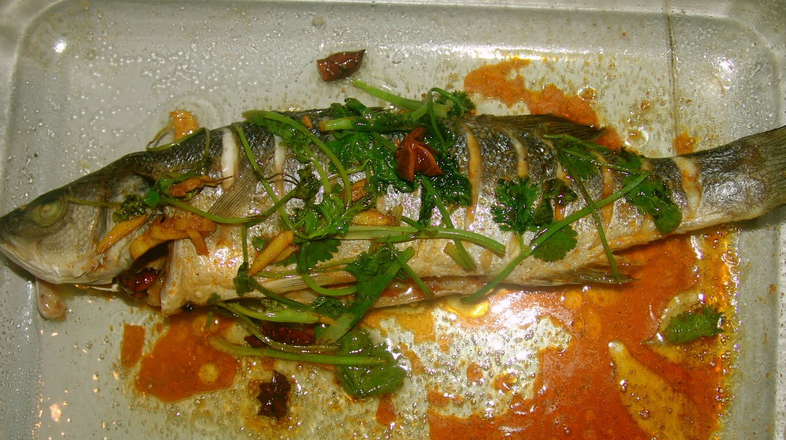 10 oven cooked fish in chinese sauce cooking simple for Fish in oven