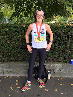 With my medal at the Cardiff Half Marathon