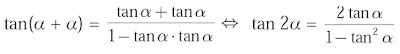 tan(α + α)