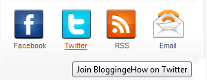 hover effect social media buttons