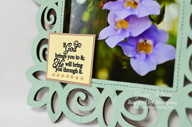 In my shoes: Quote laser cut frame *Inspired by Stamping*