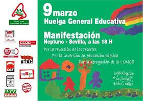 9 Marzo: Huelga General Educativa