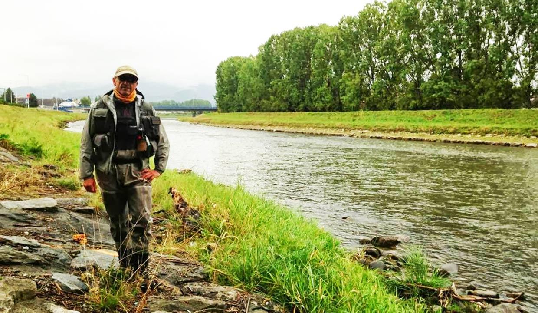 """pescador leones Pablo Castro Pinos, más conocido en el mundo de la pesca como """"El bombero"""""""