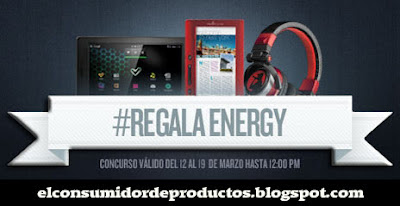 Regala Energy #regalaenergy Energy Tablet i724 Color Book 3048 Ruby Red auriculares DJ 700 Porta Edition