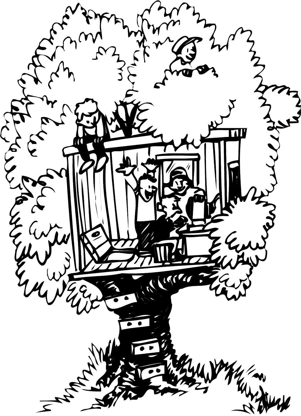 Jack Magic Tree House Coloring Page Pictures to Pin on Pinterest