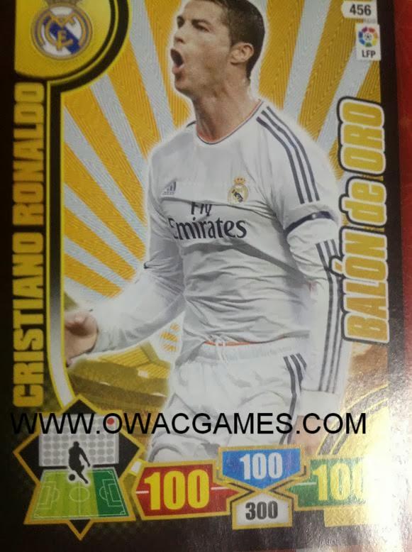 Adrenalyn 2013-14 Ronaldo balón de oro