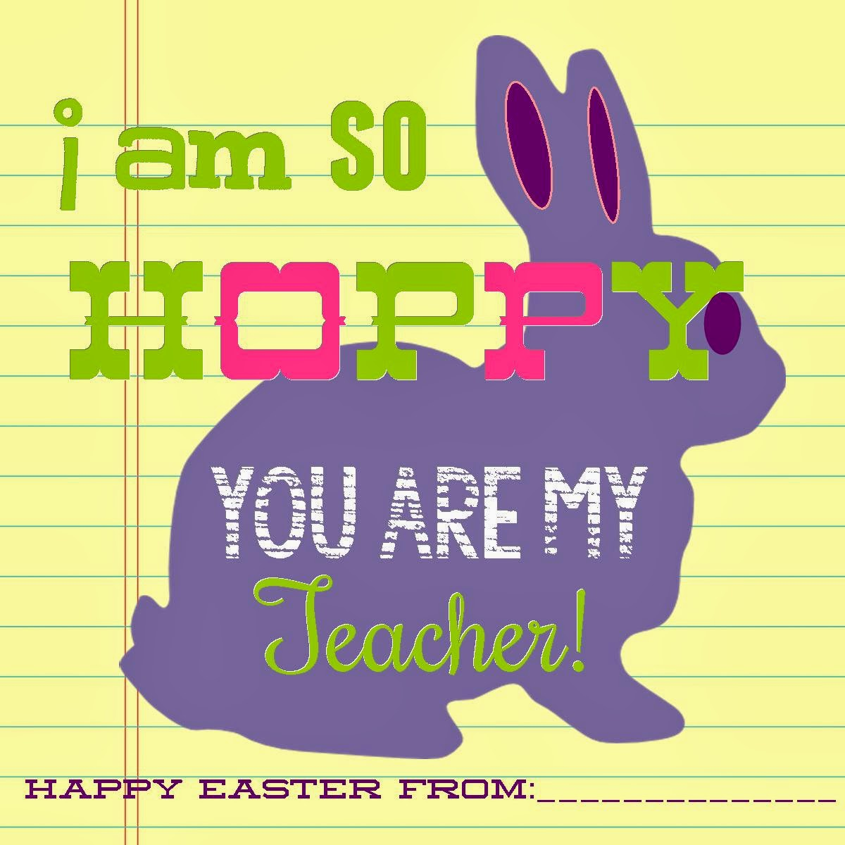 So hoppy teacher gift idea free printable negle Images