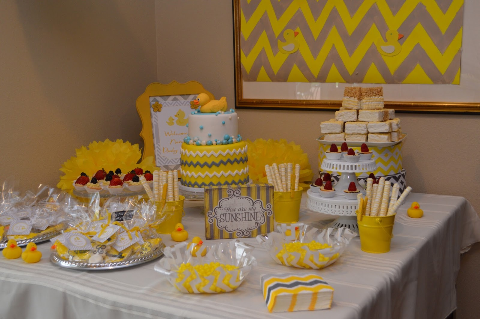 Fig + Moon Patisserie: Rubber Ducky Themed Baby Shower