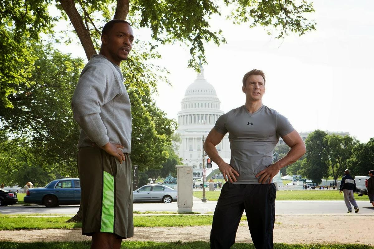 Sam y Steve en Capitán América: El soldado de Invierno