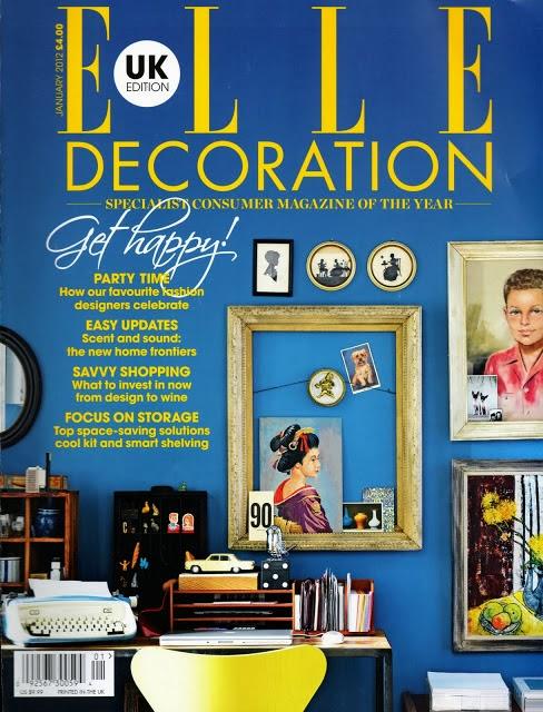 ELLE Decoration blue walls