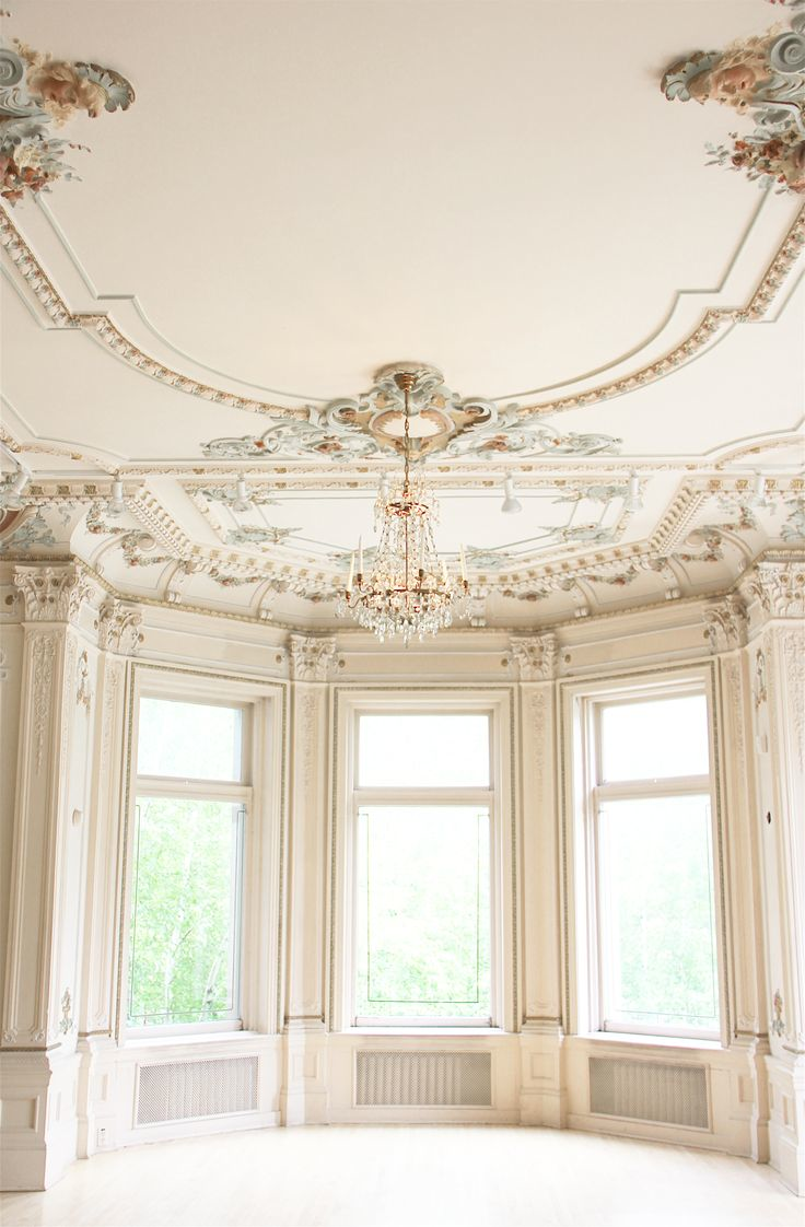 Castles crowns and cottages an empty ball room for French ceiling design