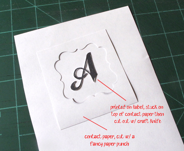 how to etch glass; make a stencil from vinyl or contact paper