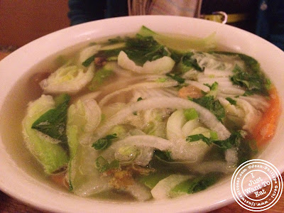 Image of Vegetarian pho at Chapas Vietnamese eatery in NYC, New York