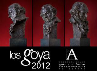 Cartel de la edición 2012 de los Premios Goya