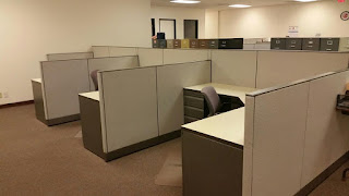 Used office cubicles, Haworth