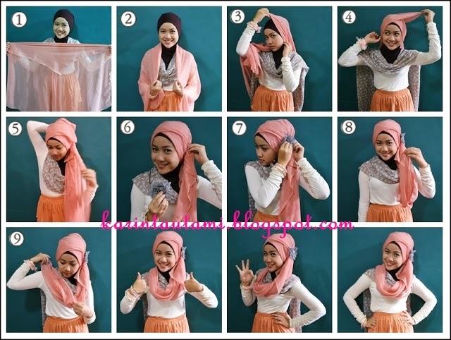 Cara Memakai Jilbab Gaul Modern