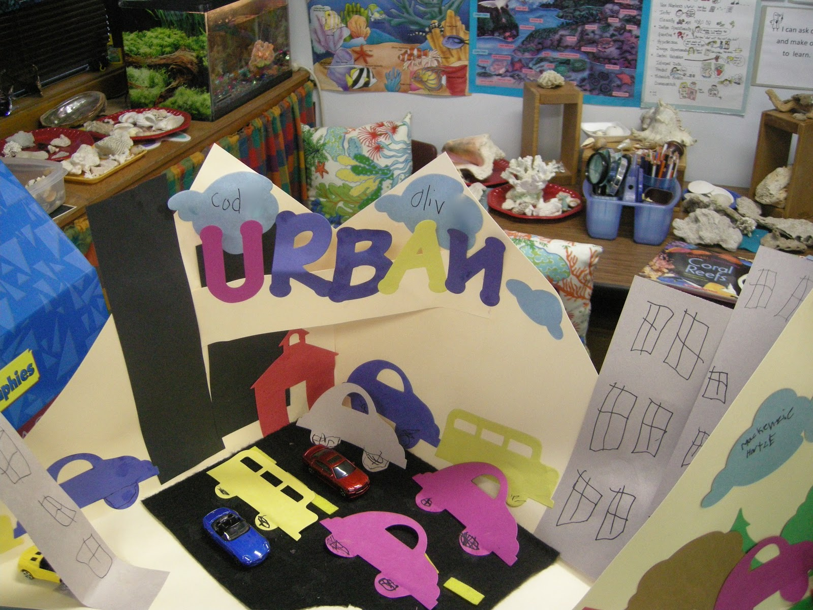 diorama of urban communities