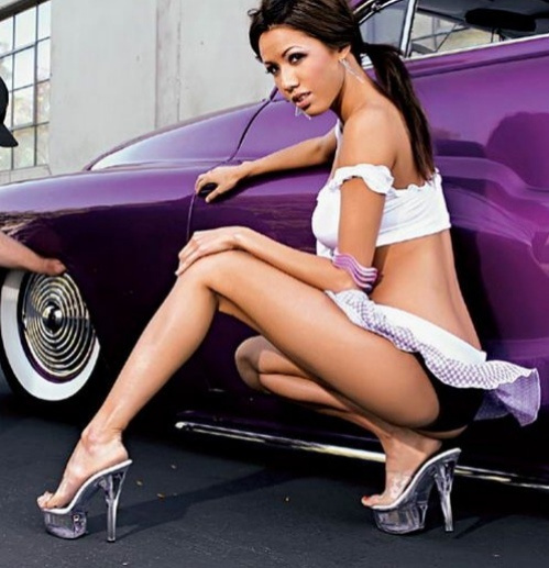 Models show asian car