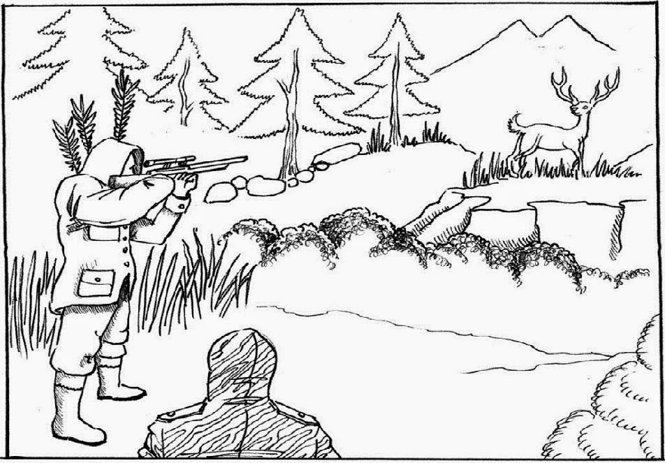 Hunting Bow And Arrow Coloring Pages Hunting Coloring Pages For