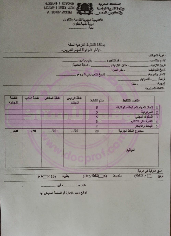 جهة طنجة تطوان: مذكرة في شأن الترقية في الرتبة برسم سنة 2015