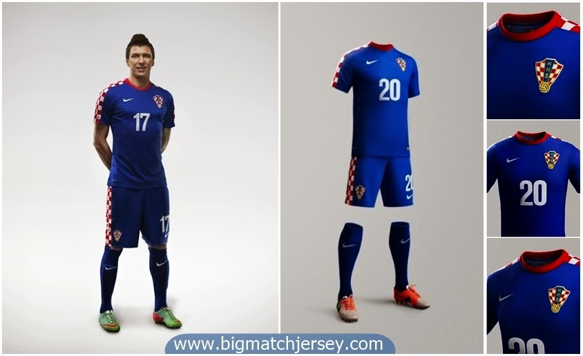 Nike Croatia Away Kit 2014 Mario Mandzukic