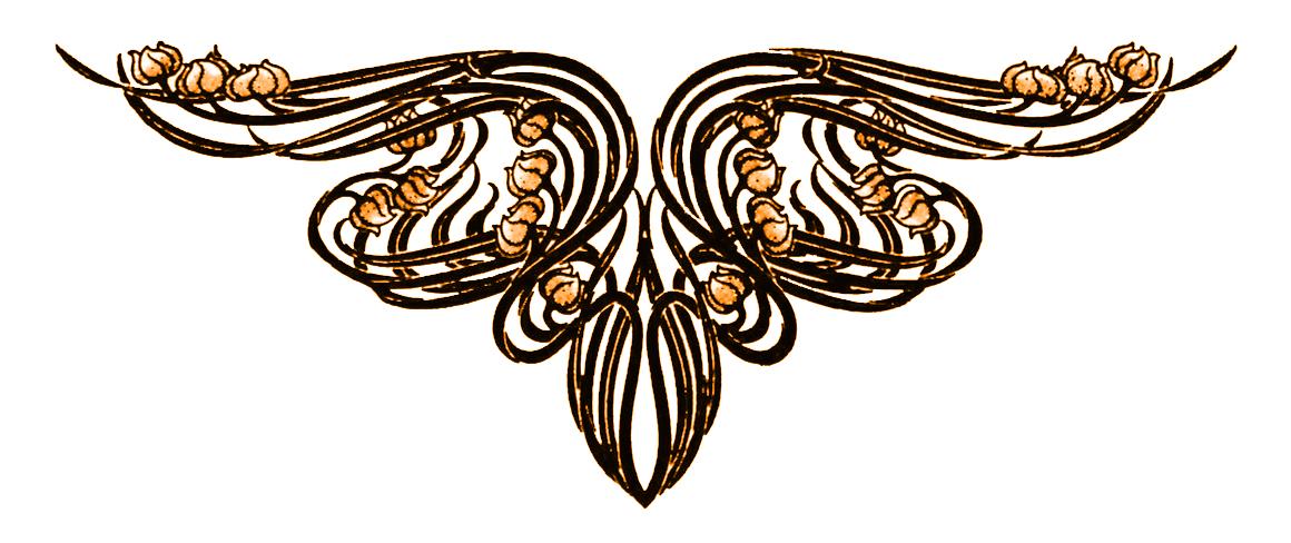 Plush Possum Studio: Plush Page Ornaments: Art Nouveau Jewel Toned ...