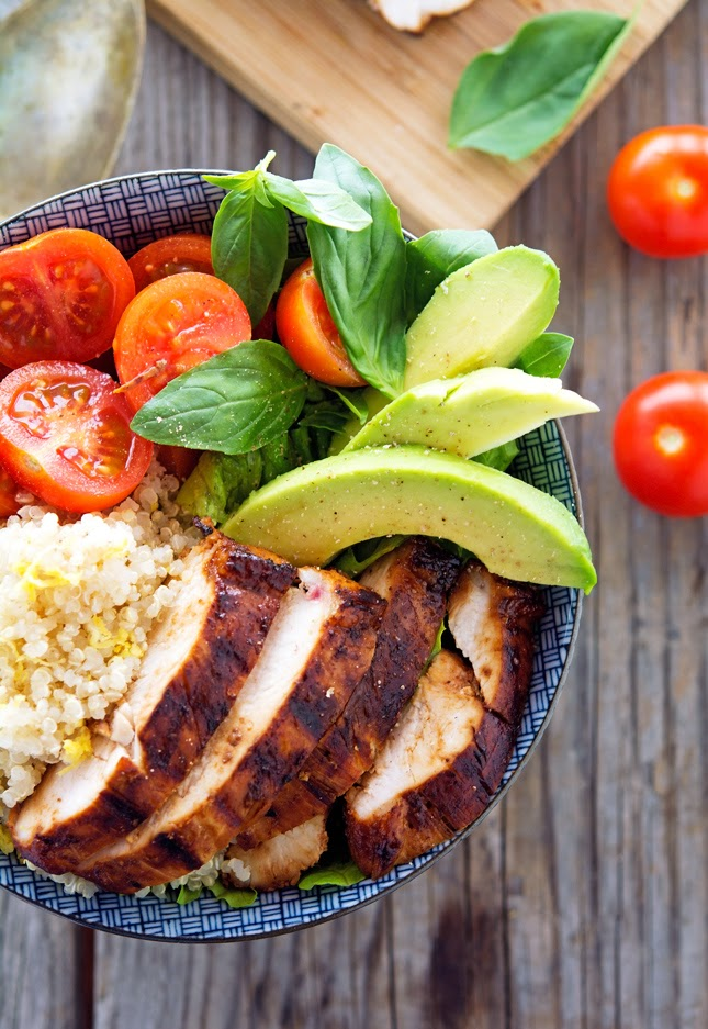 These Key West Chicken Bowls with Lemon Quinoa are exactly the kind of ...