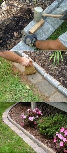 Giardino fai da te un modo ottimo per fare una bordura fai da te per