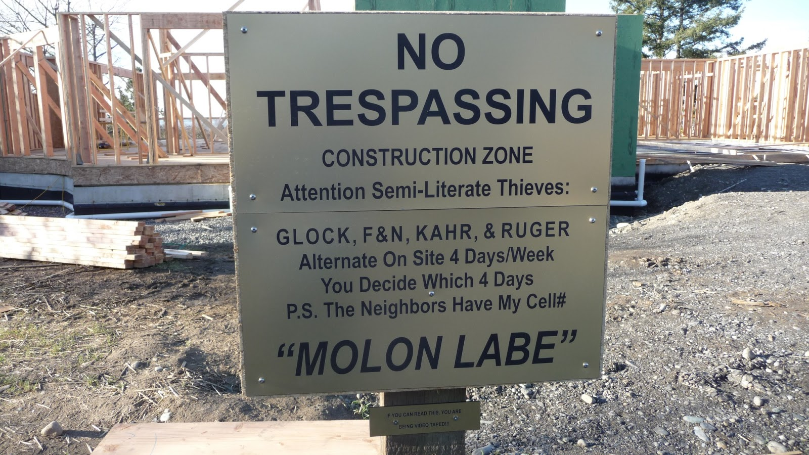 What is the worst that can happen if you ignore a No Trespassing sign?