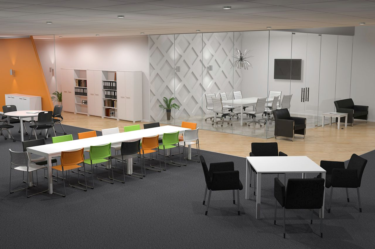 Office furniture arrangement examples inspiration for Office layout design
