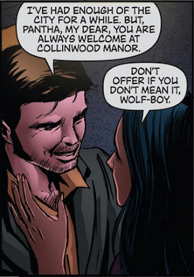 Quentin Collins and Pahta saying their goodbyes in Dark Shadows/Vampirella #5