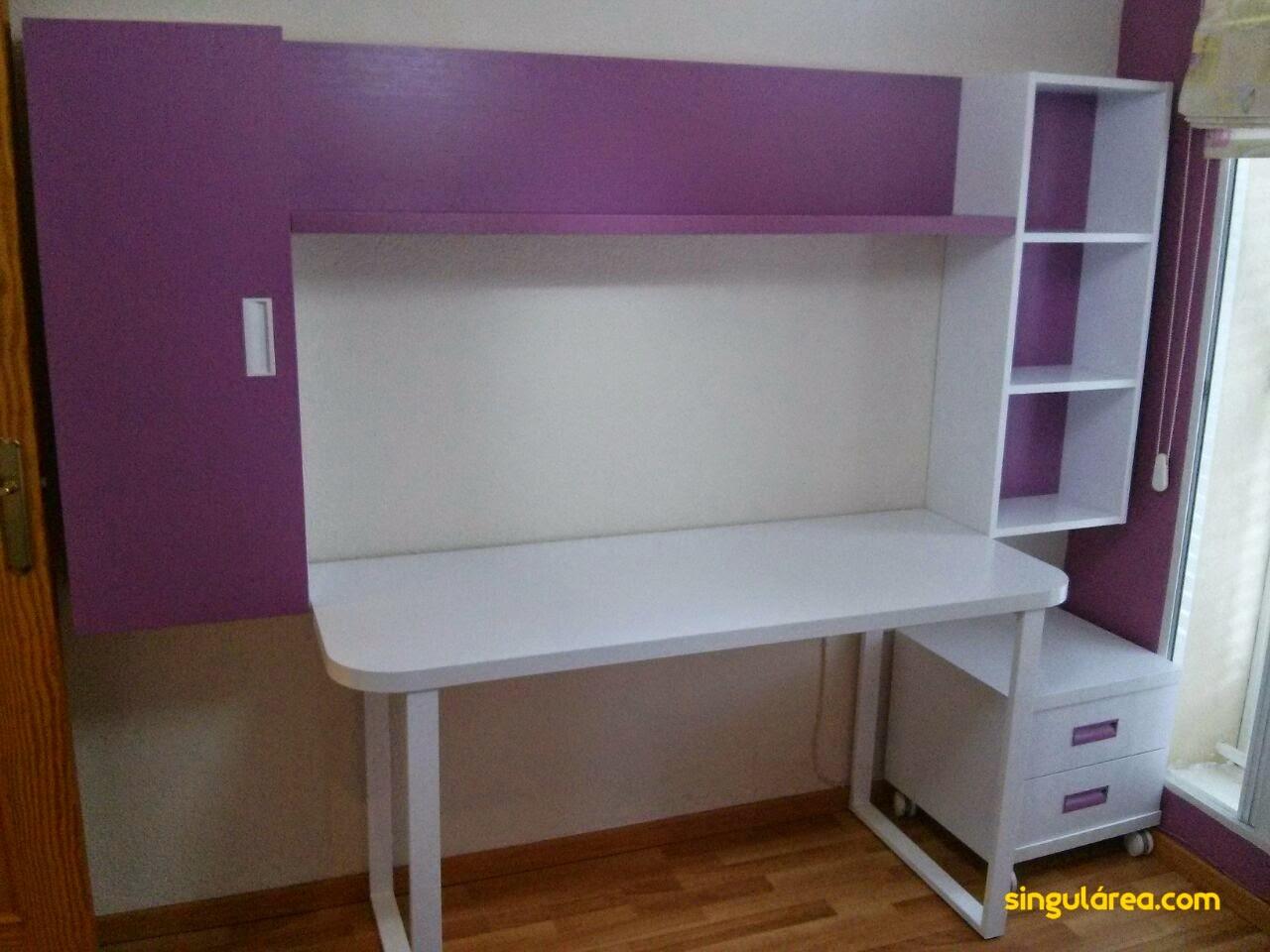 Blog dormitorios juveniles com la habitaci n blanca y for Habitacion lila y blanca