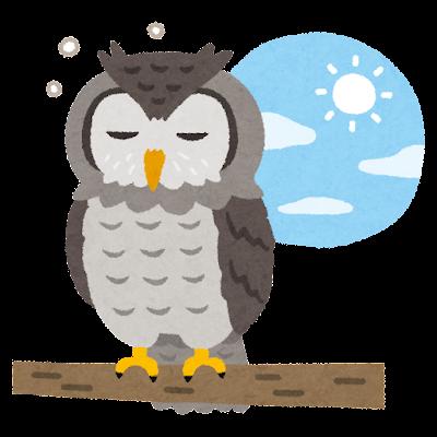 夜行性のフクロウ(ミミズク ... : 年賀状 テンプレート 2015 : 年賀状
