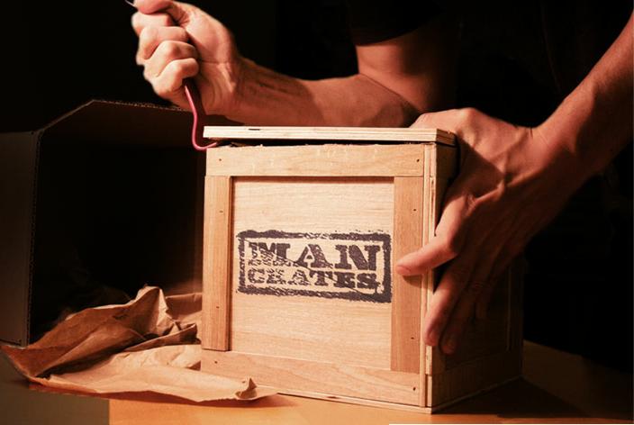 Man Crates gift crate opening crowbar