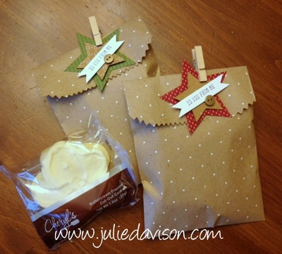 Stampin' Up! Polka Dot Gift Bags with Star Tags #stampinup www.juliedavison.com