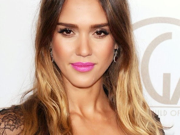 Jessica Alba hair, FashionFake, hair extensions, dip dye hair