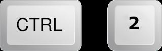 Ctrl + 2       = للحصول على تباعد للأسطر بمقدار 2سم فقط .