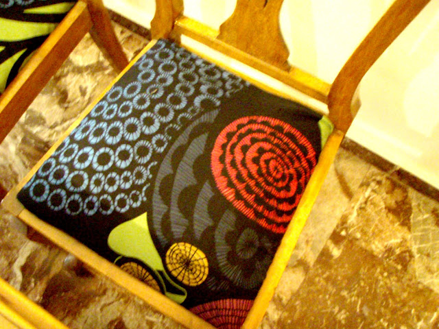 ikea fabric vintage chair makeover