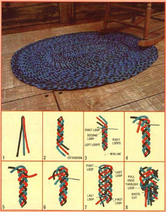 An Interwoven Braided Rug