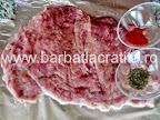 Rulada de porc cu omleta pregatire carne
