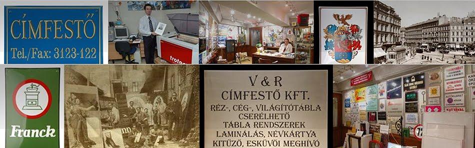 V&R Címfestő Kft.