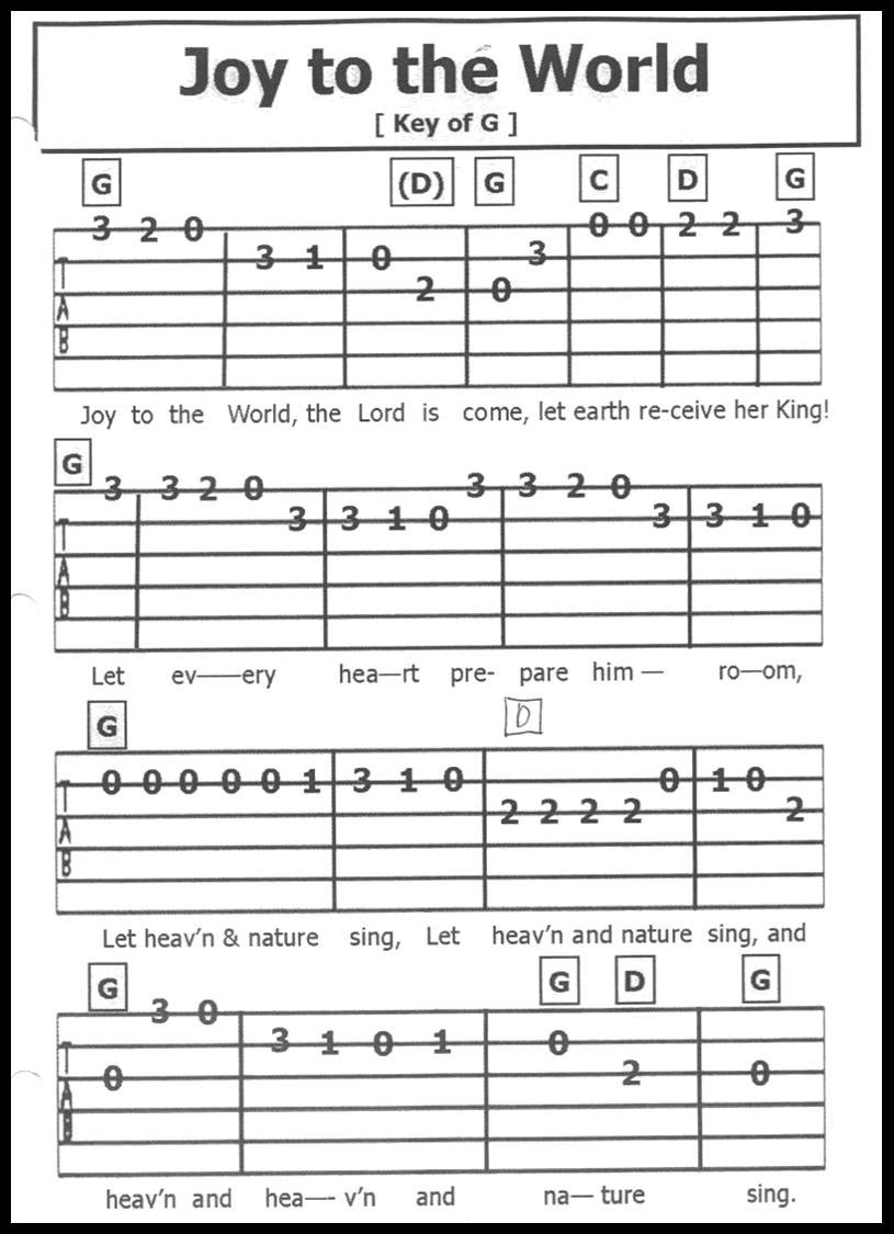 Guitar Tab Songs December 2015