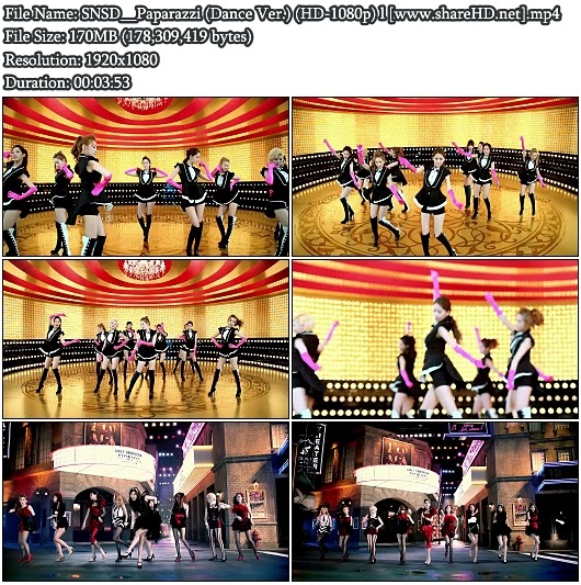 Download PV SNSD (Girls' Generation / 少女時代) - Paparazzi (Dance Version) (Full HD 1080p)