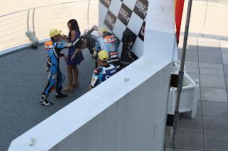podium de moto3 en indianapolis